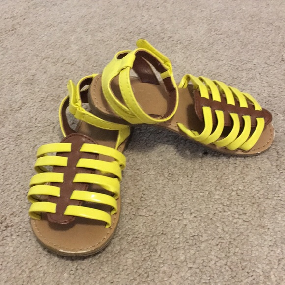 Toddler Girls Yellow Strappy Sandals